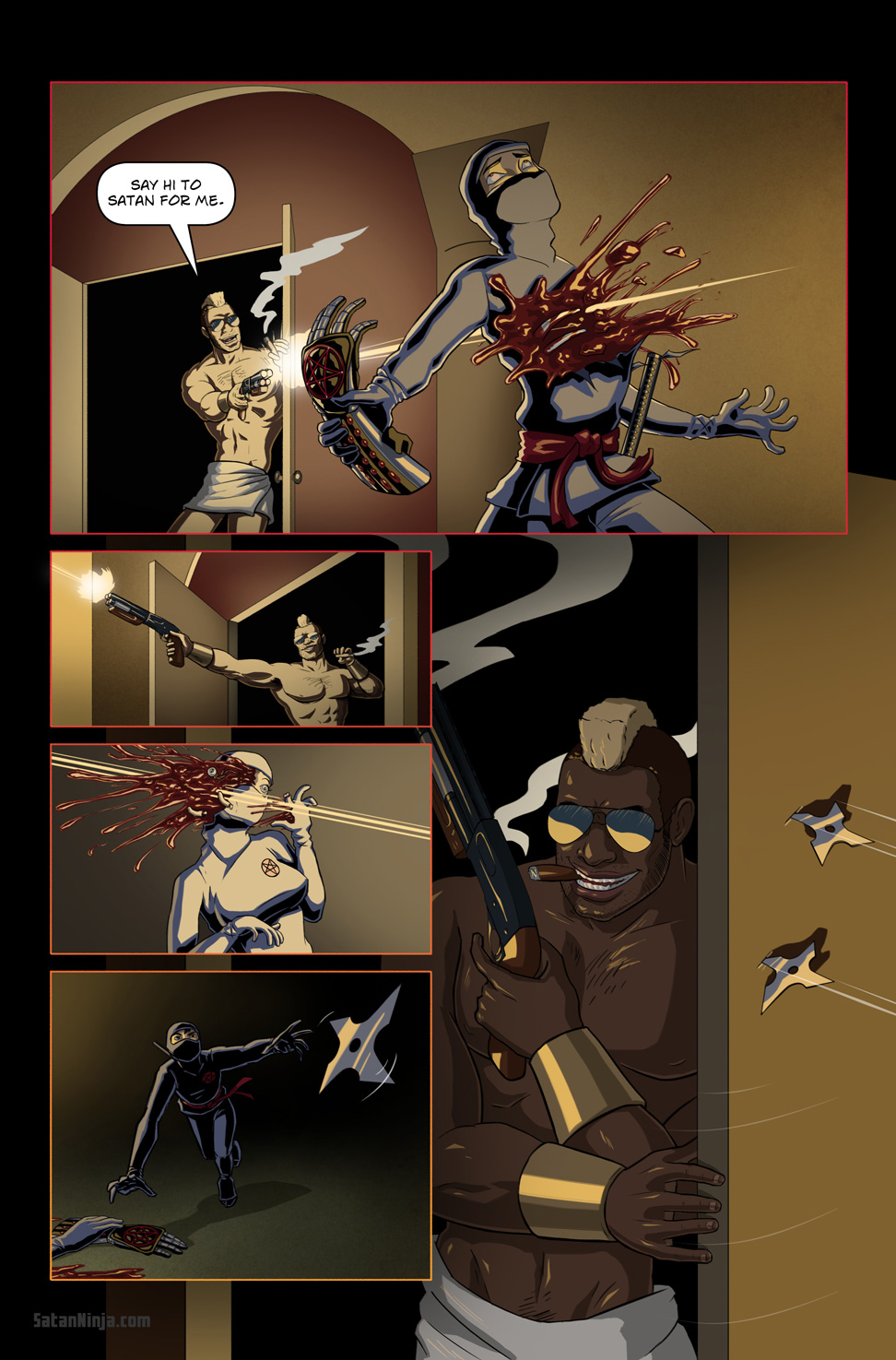 Issue 1, Page 17 - Viper vs. Ninjas