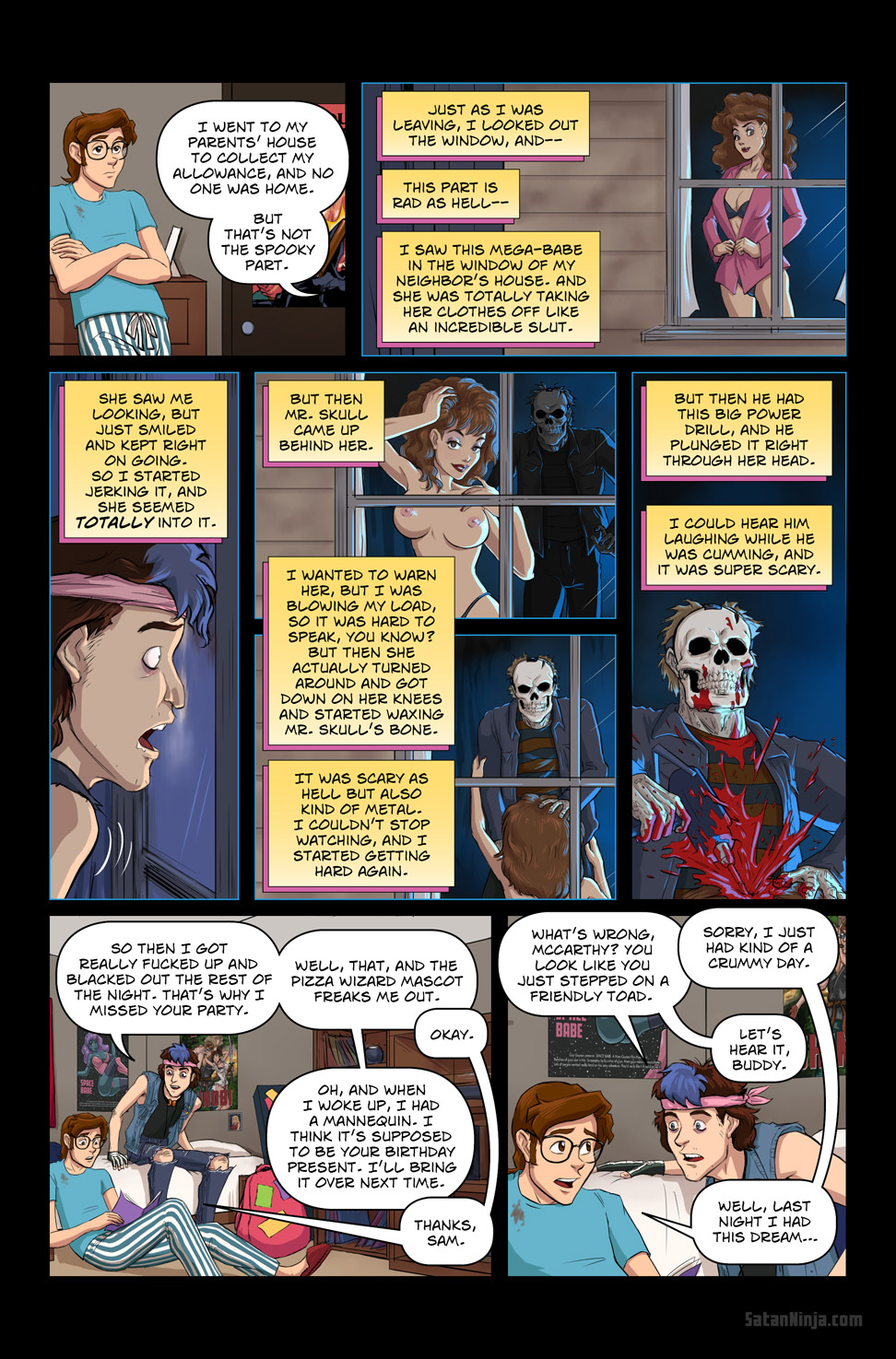 Issue 2, Page 16 - Sam's Horrific Tale of Mr. Skull