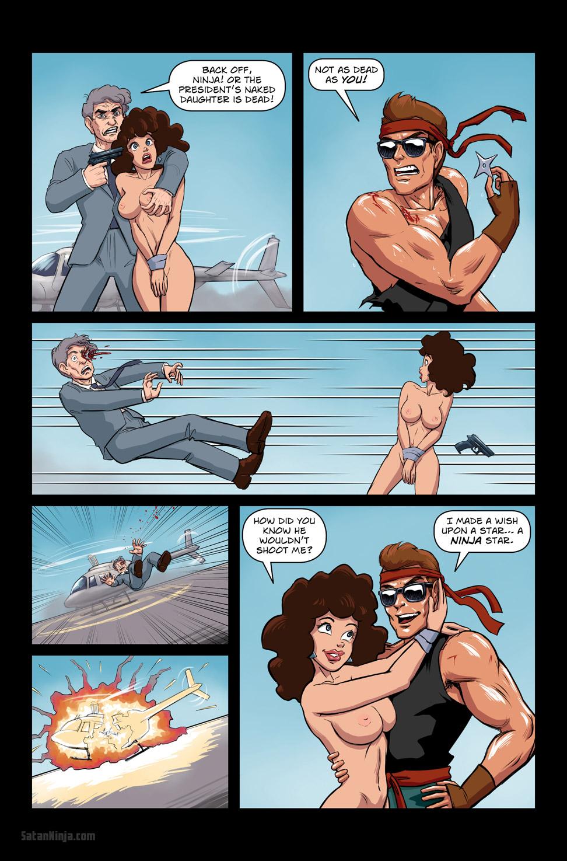 Issue 3, Page 20 - Dude Shinobi in Ninja Exploder II